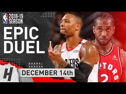 Damian Lillard vs Kawhi Leonard EPIC SHOOTOUT Duel Highlights 2018.12.14 - 28 Pts for Kawhi