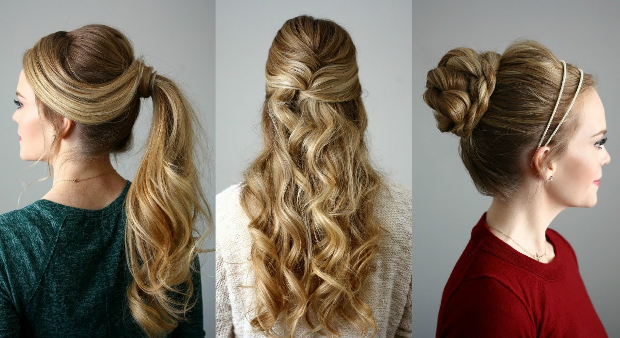 2019 year for women- Hairstyles Easy for the holidays pictures