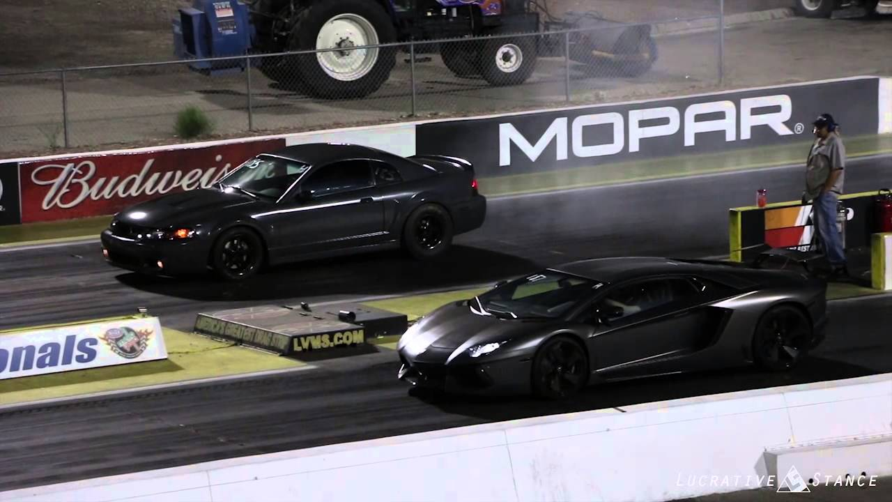 lamborghini aventador vs ford mustang youtube
