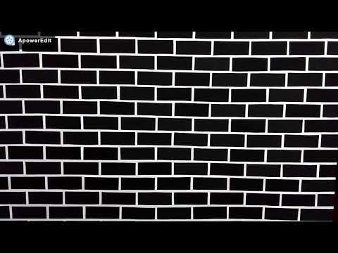 Decoração fácil de parede com tijolinhos de E V A.