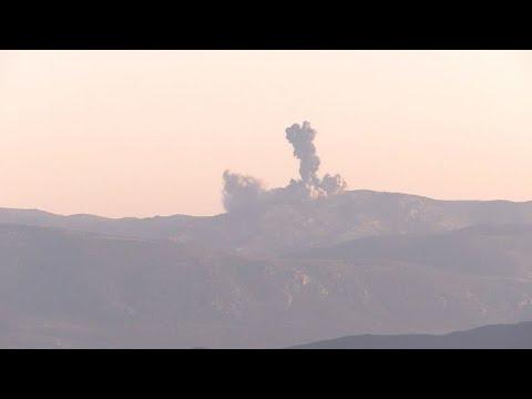 تركيا تشن هجوما جويا وبريا في شمال سوريا