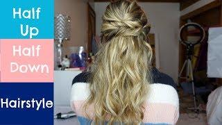 Half Up Half Down Hairstyle for Short, Medium, or Long Hair