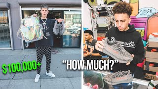 Trying to Sell Fake Yeezys While Wearing a $100,000 Outfit!