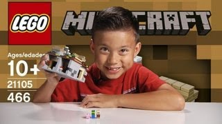 THE VILLAGE - LEGO MInecraft Set 21105 - Unboxing, Review & Time-lapse Build