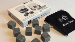 OVR-ROX - Over Rocks Gift Set of 9 Whiskey Granite Chill Stones for Scotch, Whisky and Bourbon