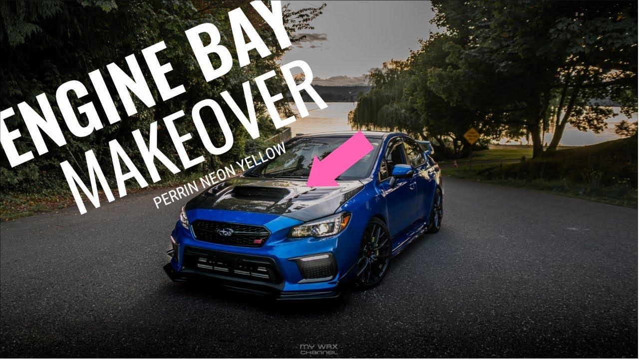 Perrin Subaru Neon Yellow Battery Tie Down