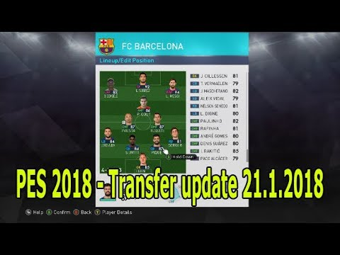 PES 2018 Option file 21. January 2018 - Transfer update + Download