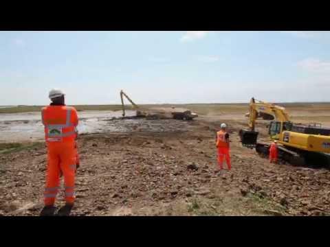 Crossrail Sustainability: Time-lapse shows sea wall breach at Wallasea Island