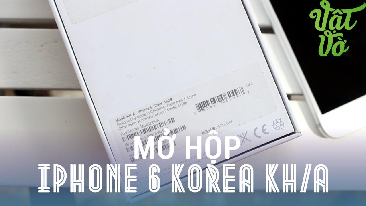 Review dạo] Mở hộp iPhone 6 Hàn Quốc - giá rẻ hơn, củ sạc giống chính hãng  - YouTube