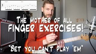 The Mother Of All Finger Exercises - Bet you can't play 'em! thumbnail