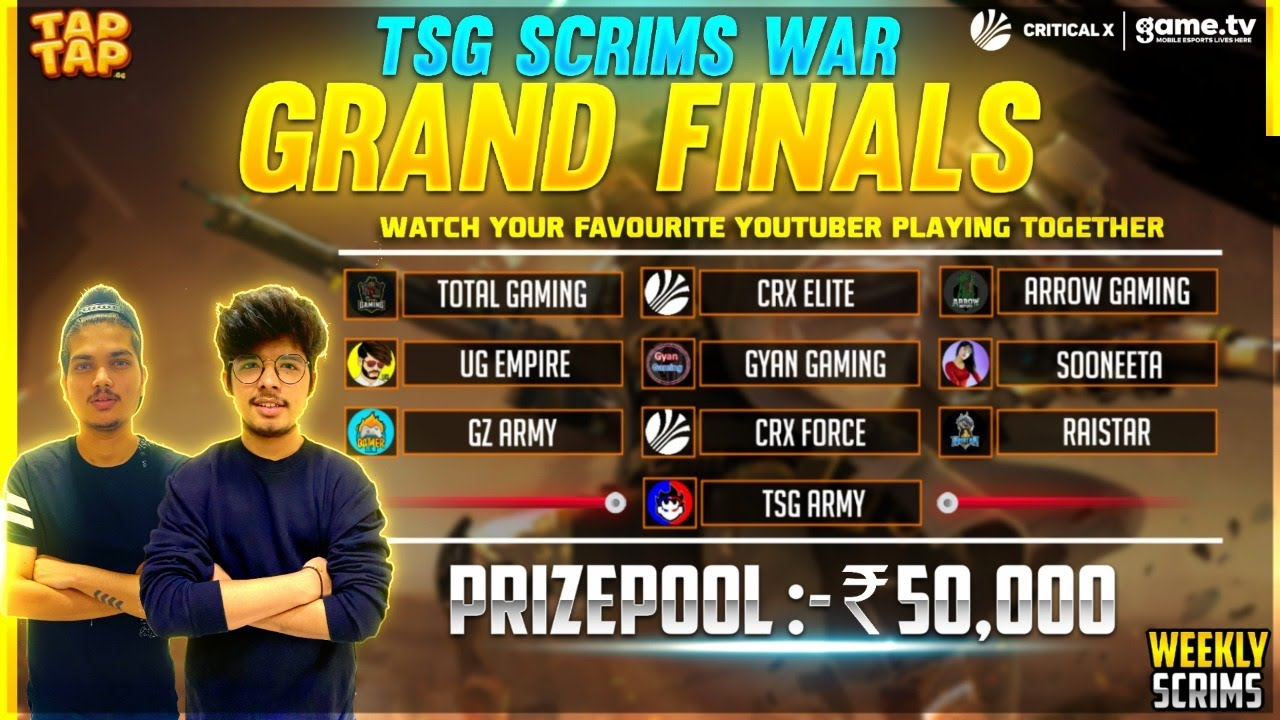 FREE FIRE SQUAD TOURNAMENT 50000 PRIZE POOL - Powered By Game.tv |