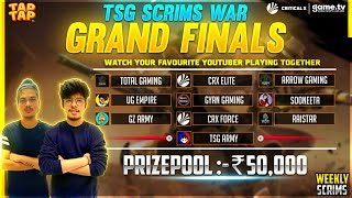 Free Fire India Championship The Grand Finale Of Tsg Scrims War 50000 Prize Pool -Powered By Game.Tv