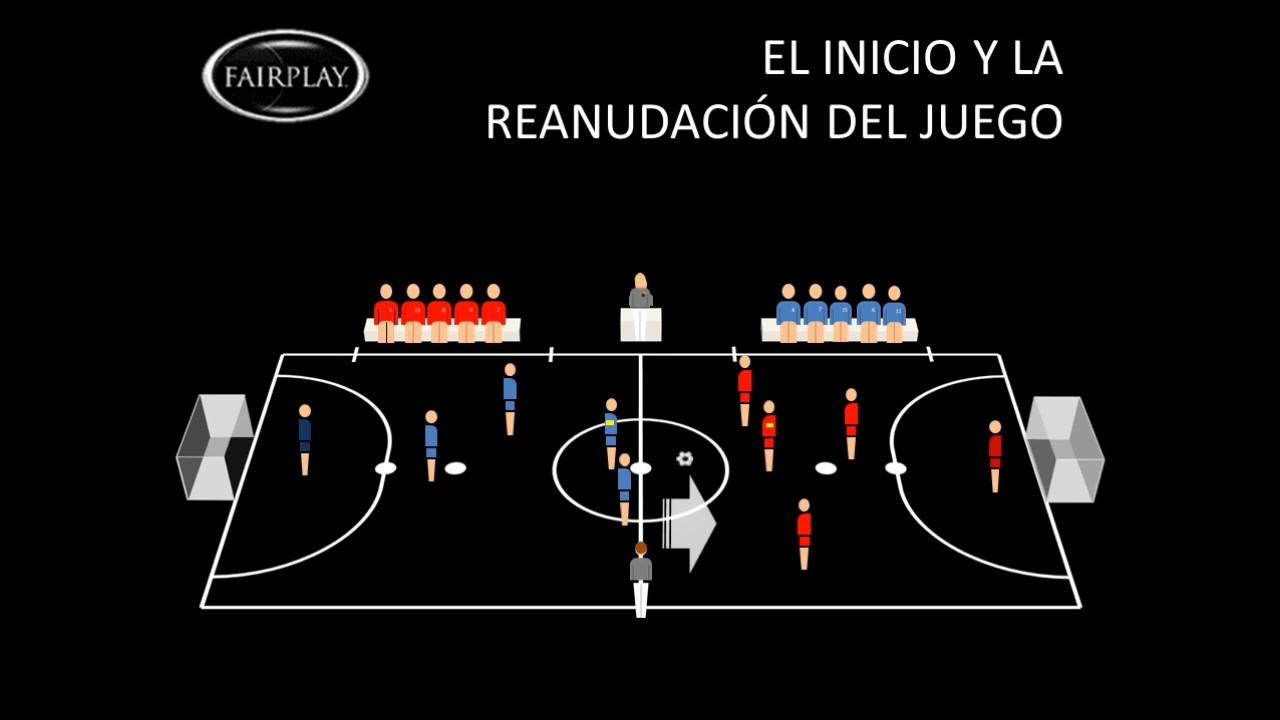 Futbol de salon regla 7 el inicio y la reanudaci n del for Regla fuera de juego futbol