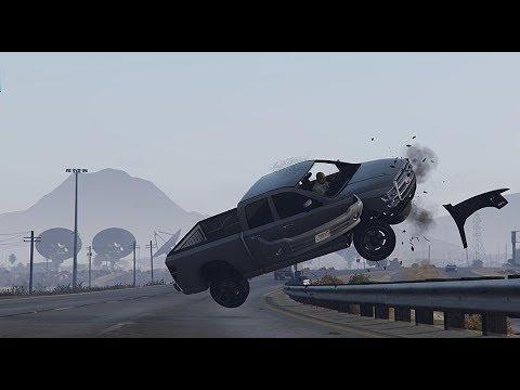 GTA 5 INTENSE CAR CRASHES COMPILATION!!! thumbnail