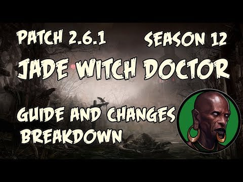 Diablo 3 2.6.1 Jade Witch Doctor Guide and PTR changes!