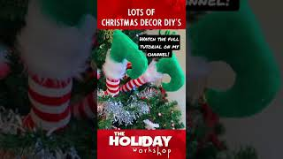 FUN & WHIMSICAL CHRISTMAS DECORATIONS DIY'S | HOW TO MAKE ELF FEET FOR THE CHRISTMAS TREE
