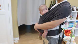 [육아템] 아이엔젤 아이슬링 밀착아기띠 언박싱&…