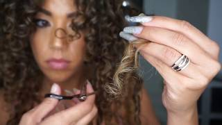 How to Trim Curly Hair at Home | HiF3licia