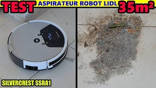 Aspirateur robot LIDL SILVERCREST SSRA1 TEST 35 M² Robot Vacuum Cleaner Saugroboter aspirapolvere