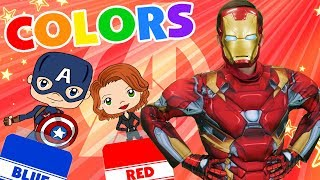 Learn Colors with the Avengers | Learning Lane | WigglePop