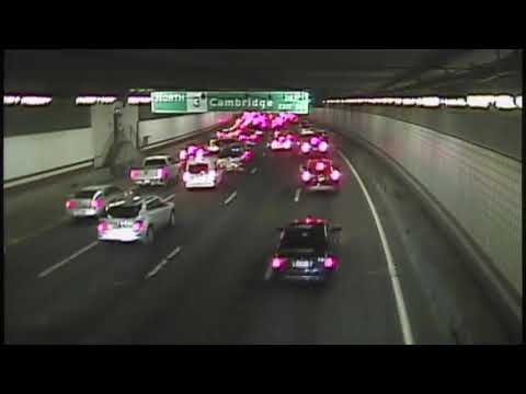 A woman was seen biking the wrong way in Boston's O'Neill Tunnel
