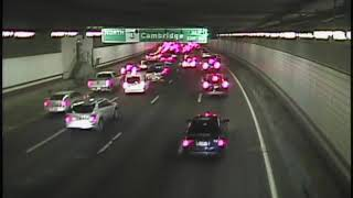 Woman rides bike the wrong way in Boston's O'Neill Tunnel