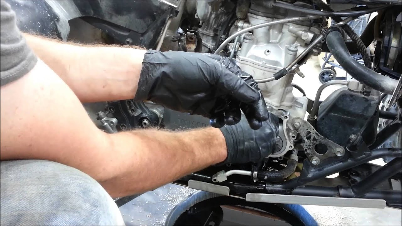 how to change the water pump on a yamaha yfz 450 [ 1280 x 720 Pixel ]