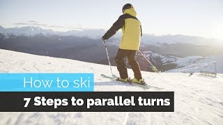 Bulgaria Skiing - HOW TO SKI | 7 STEPS TO PARALLEL TURNS