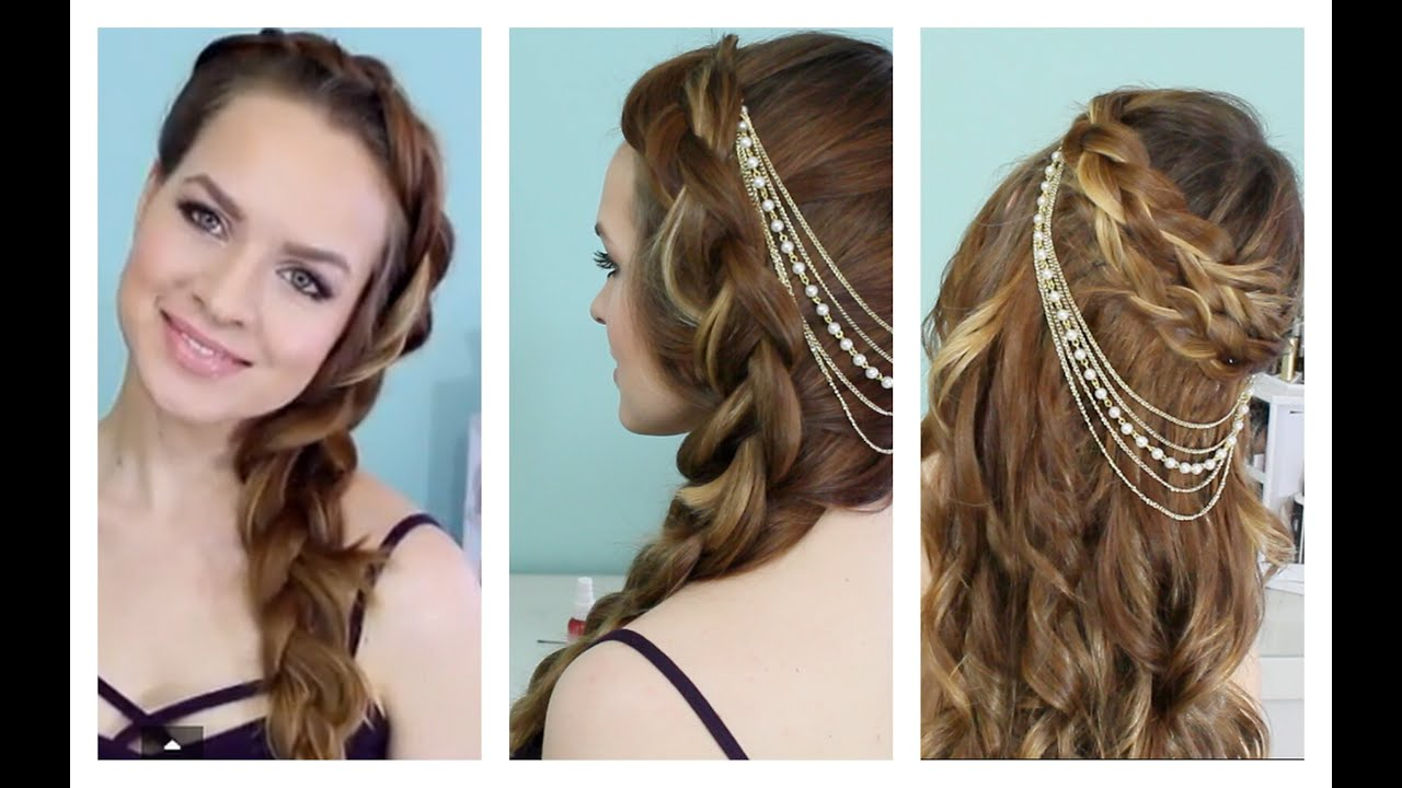 Spring and Summer Time Braids + Hair Jewelry - YouTube