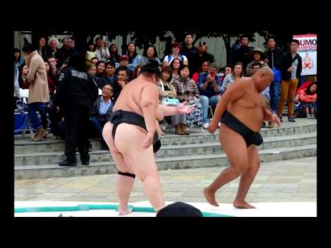 US Sumo Champions Exhibition Snippets at SF JapanTown, 9-11-16