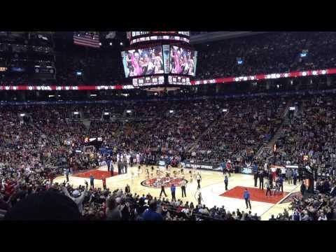 Toronto Raptors x New Orleans, Fev/2014 em Air Canada Centre, Toronto, CA