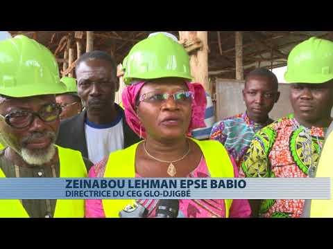 Lucien Kokou visite les chantiers de construction de classe dans l'Atlantique et Littoral