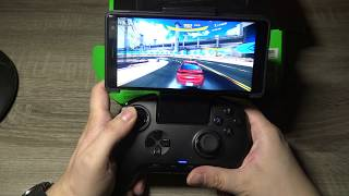 Razer Raiju Mobile Controller Smartphone Android Bluetooth: Test Video Review Gameplay FR HD