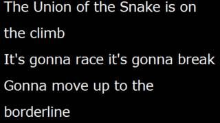 Duran Duran Union Of The Snake lyrics