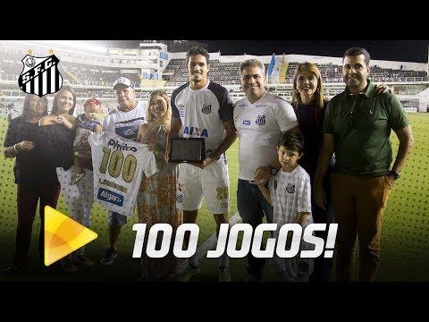Lucas Veríssimo atinge a marca de 100 jogos pelo Santos FC