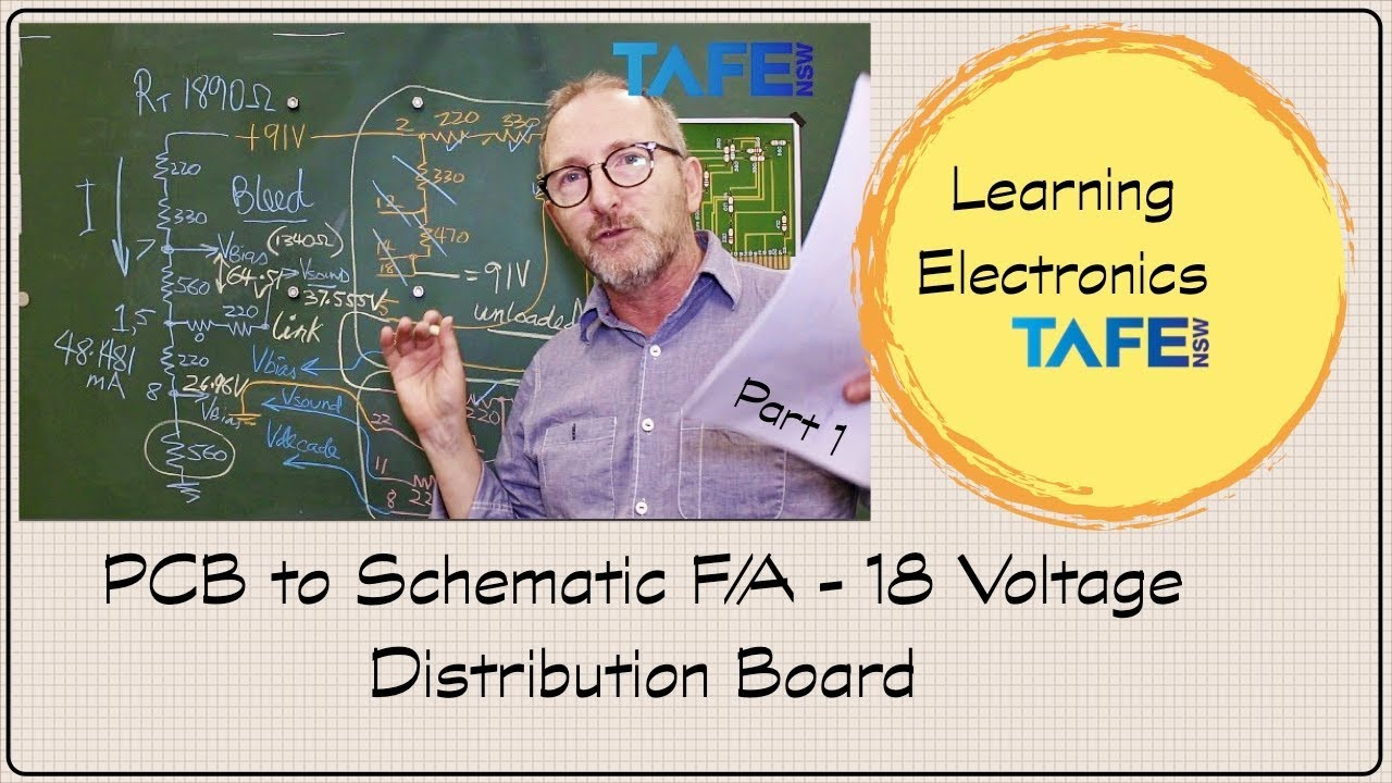 Circuit Board to Schematic for Voltage Divider Problem UEENEEE104A Part 1  TAFE NSW