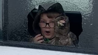 Parents Prank Kid By Asking Him To Break Ice Off Their Car Window - 1177572