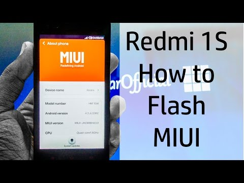 Redmi 1S - How to Flash Stock MIUI (/w Stock Recovery) - Easy and Safe