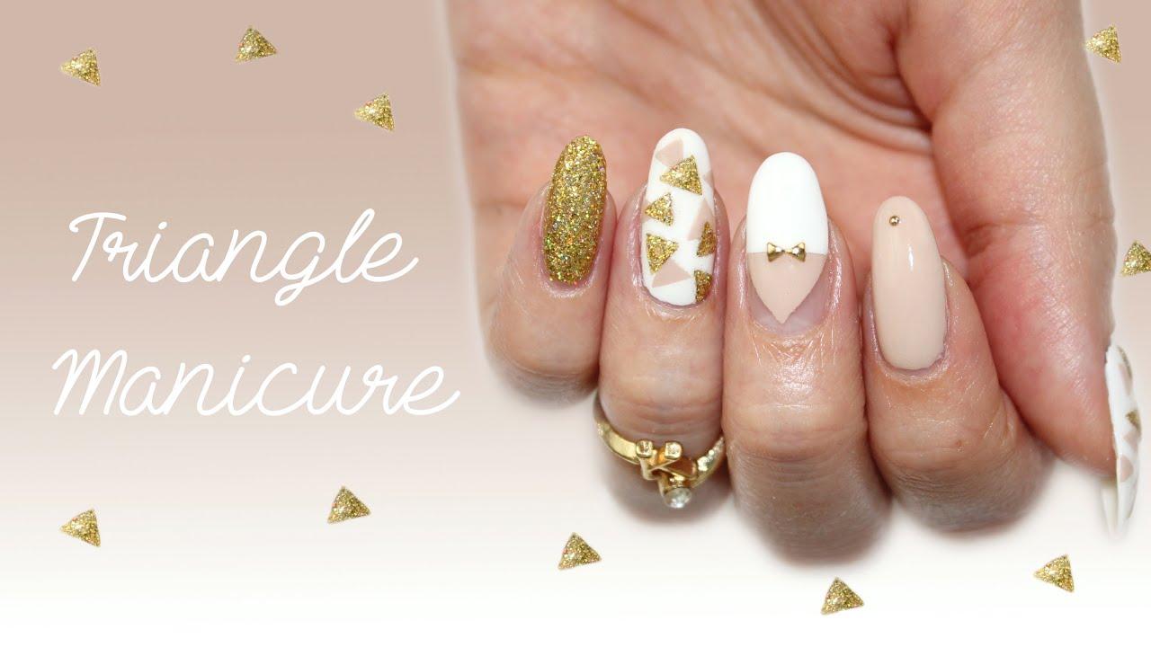 triangle nail art spring 2014 youtube