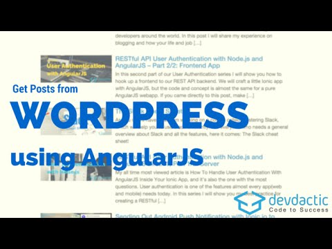 how to get posts from wordpress rest api with angularjs youtube