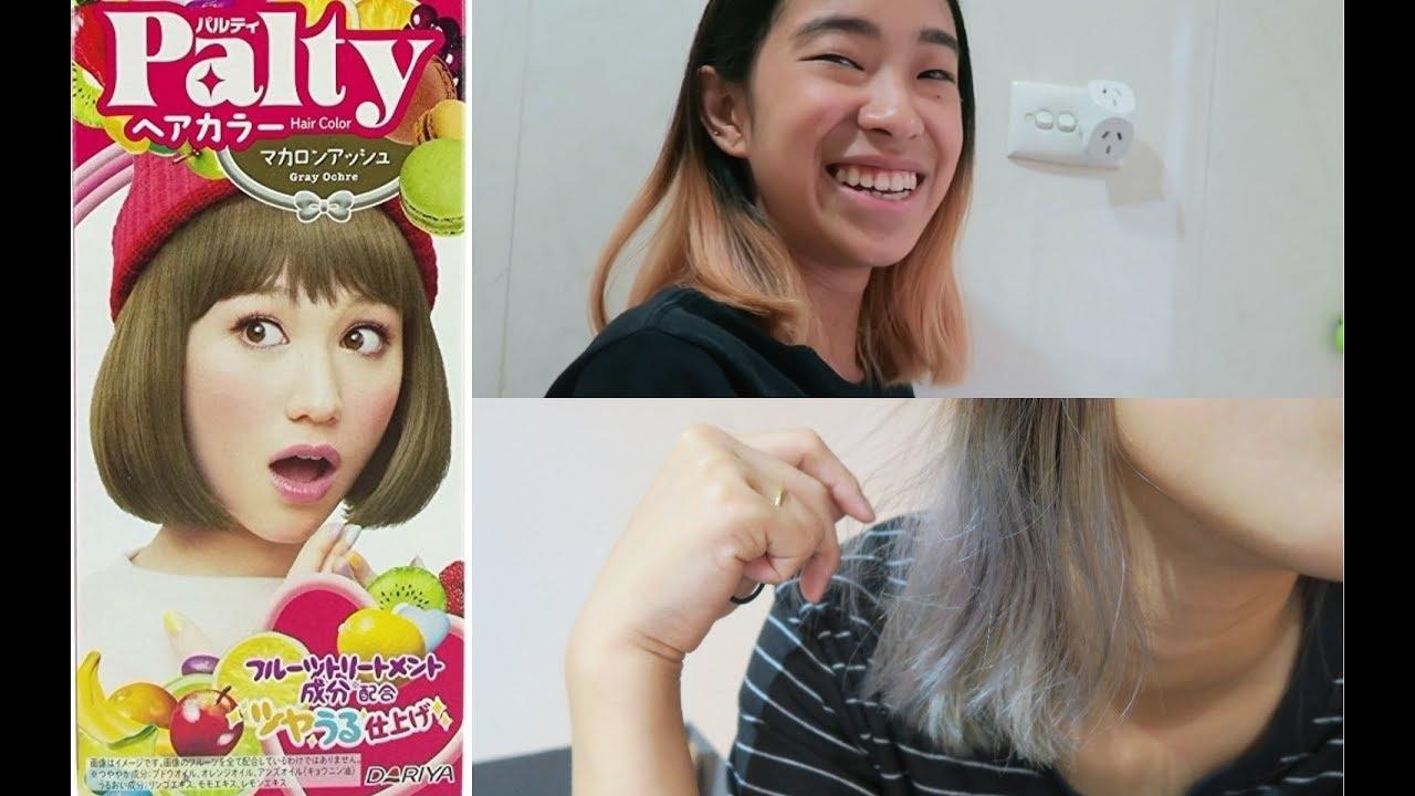 How I Dyed My Hair Ash Grey Palty Grey Ochre Youtube