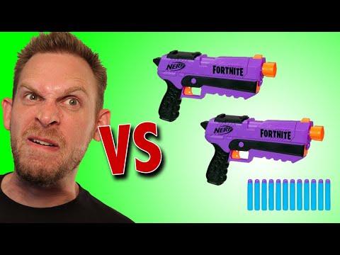 Nerf Fortnite DP-E Blaster 2-Pack Unboxing