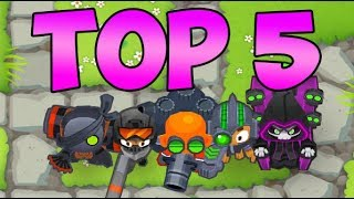 Top 5   5th Tier Towers! Bloons Tower Defense 6