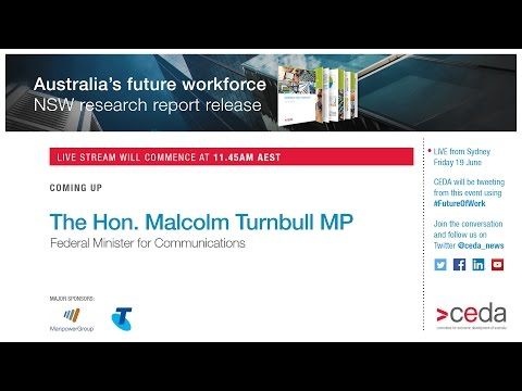 Australia's Future Workforce? - CEDA report release LIVE STREAM