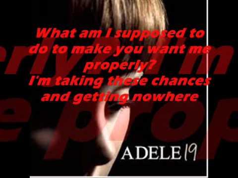 Adele - Best for last Lyrcis