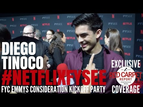 Diego Tinoco #OnMyBlock interviewed at 2018 Netflix FYSee Space #FYC #Emmys party #NetflixFYSee
