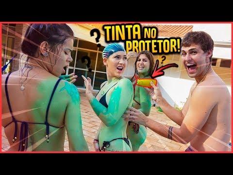 COLOQUEI TINTA NO PROTETOR SOLAR DAS MENINAS!! - TROLLANDO AMIGAS [ REZENDE EVIL ]