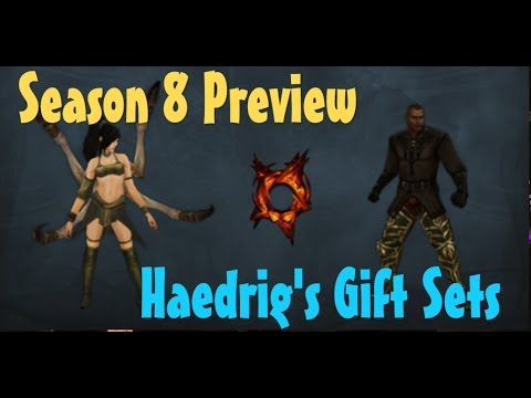Diablo 3 Season 8 Preview cosmetics Haedrig's Gift sets - YouTube