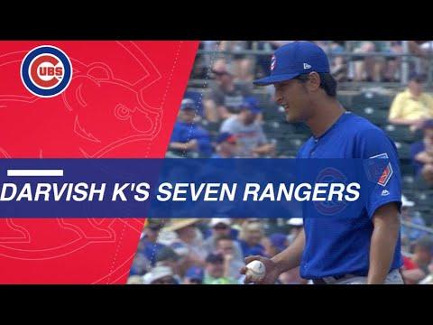 Yu Darvish K's seven Rangers, allows one run