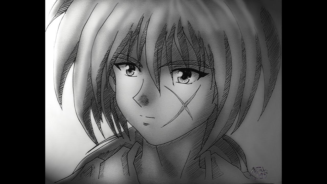 Drawing Kenshin Himura Rurouni